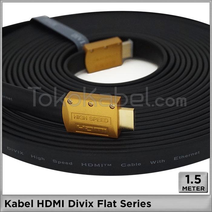 Kabel Hdmi Divix Flat Series 1 5m Tokokabel Com