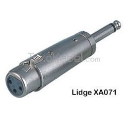 Adapter XLR Female to TS Male, Lidge XA071