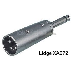Adapter XLR Male to TS Male, Lidge XA072