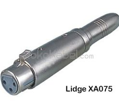 Adapter XLR Female to TS Female, Lidge XA075