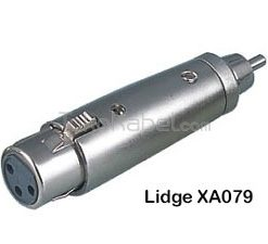 Adapter XLR Female to RCA Male, Lidge XA079