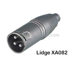 Adapter XLR Male to RCA Female, Lidge XA082